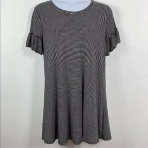 5/$25 Mossimo Dress Striped Short Sleeved